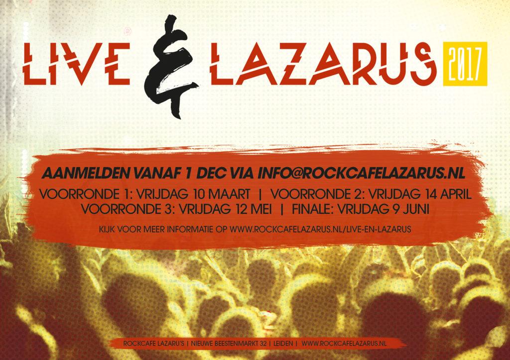Aanmelden voor Live & Lazaru's 2017