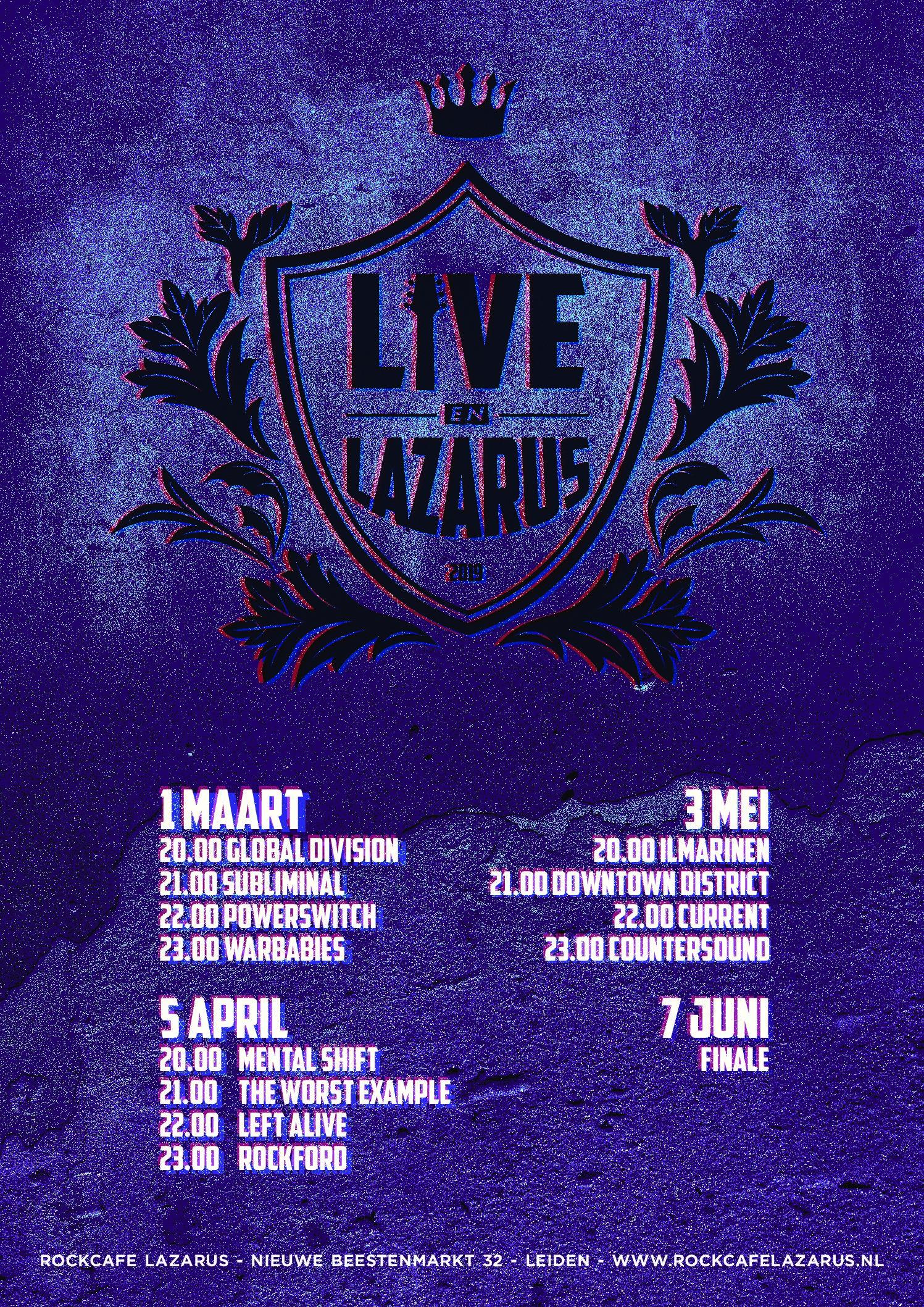 Live en Lazarus 2019 Voorronde 1